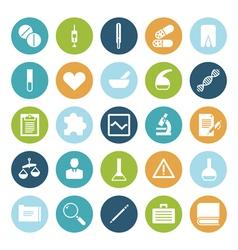 icons plain circle medical vector image