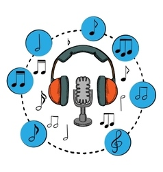 Music sound and entertainment icons vector image