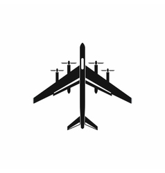 Fighter plane icon simple style vector