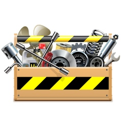Toolbox with Car Spares vector image