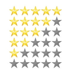 Achievement stars for game and review vector