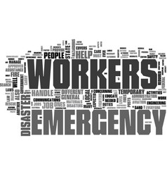 Are emergency workers only firefighters text word vector