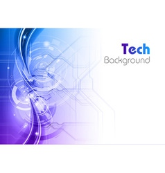 background line wave light tech blue vector image