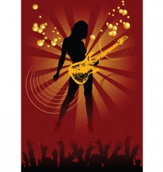 disco guitar vector image vector image