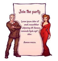 Elegant party invitation vector
