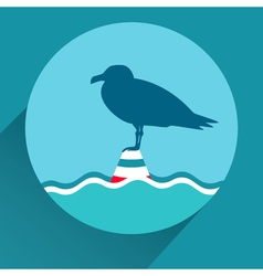 Flat icon of seagull vector