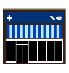 front view of a pharmacy vector image