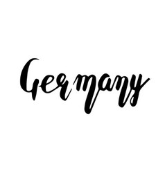 Germany hand lettering isolated on white vector