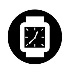 hand watch isolated icon vector image