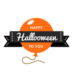 Happy hallooween day greeting emblem vector
