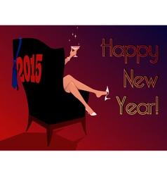 Happy New 2015 vector image vector image