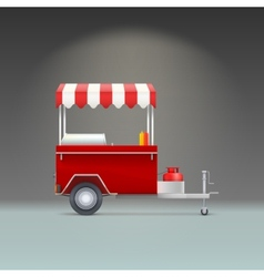 Hot dog store vector