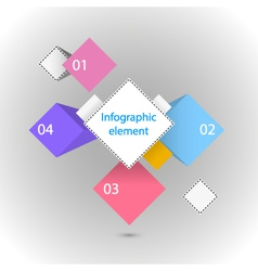Infographic element different squares vector