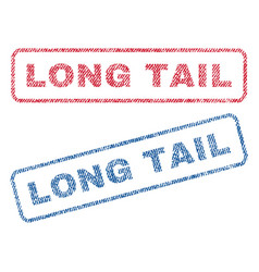Long tail textile stamps vector