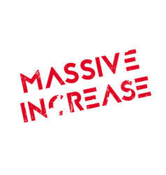 massive increase rubber stamp vector image vector image