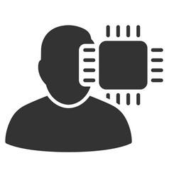 neuro interface icon vector image vector image