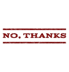 No Thanks Watermark Stamp vector image