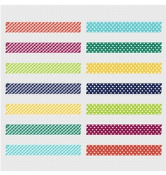 Set of cute patterned washi tape strips vector image vector image