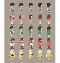 Set of traveller characters vector