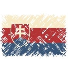 Slovak grunge flag vector