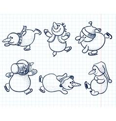 snowmans vector image vector image