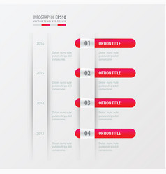 Timeline design pink gradient color vector