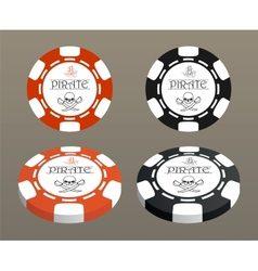 with stylized poker chips vector image vector image