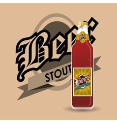 Bottle of beer emblem image vector
