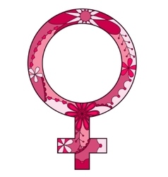 Woman sign pink vector