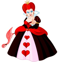 Angry queen of hearts vector