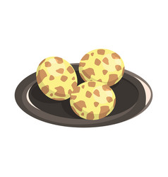 Quail eggs food item rich in proteins important vector