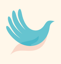 Dove in hand vector