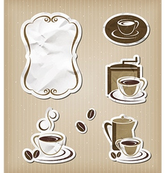 Coffee menu vintage set vector