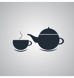 Teapot and cup of tea vector