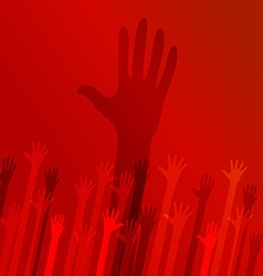 Helping hand background design vector