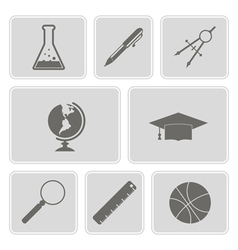 Set with school icons vector