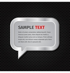 Silver speech bubbles for message on dark vector