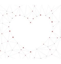 Triangular Heart Background vector image