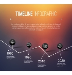 Infographic timeline design concept - template vector