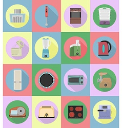 household appliances for kitchen 20 vector image