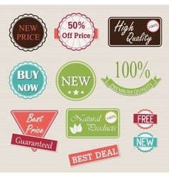 Quality retro badges collection vector