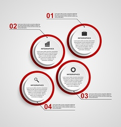 Abstract circle infographic design template vector
