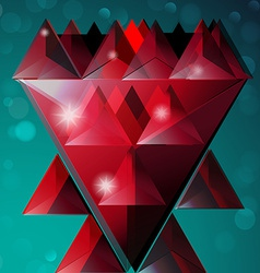 Abstract flower geometric background vector image