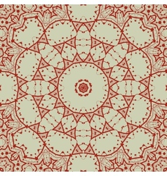 Abstract seamless pattern in red with circle vector image vector image