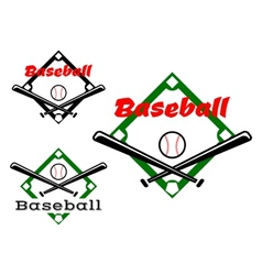 Baseball labels or badges vector image vector image