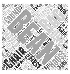 Bean bag chair word cloud concept vector