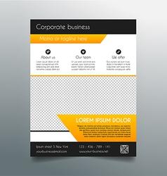 Business flyer template - fresh orange design vector image vector image
