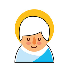 cartoon cute baby jesus christ christmas image vector image vector image