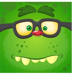 cartoon smart zombie wearing glasses vector image vector image