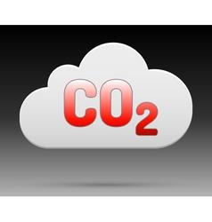 Co2 cloud vector